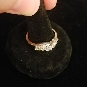 LIA SOPHIA - 7 stone ring, great for layering